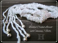 White Beaded Crochet Necklace