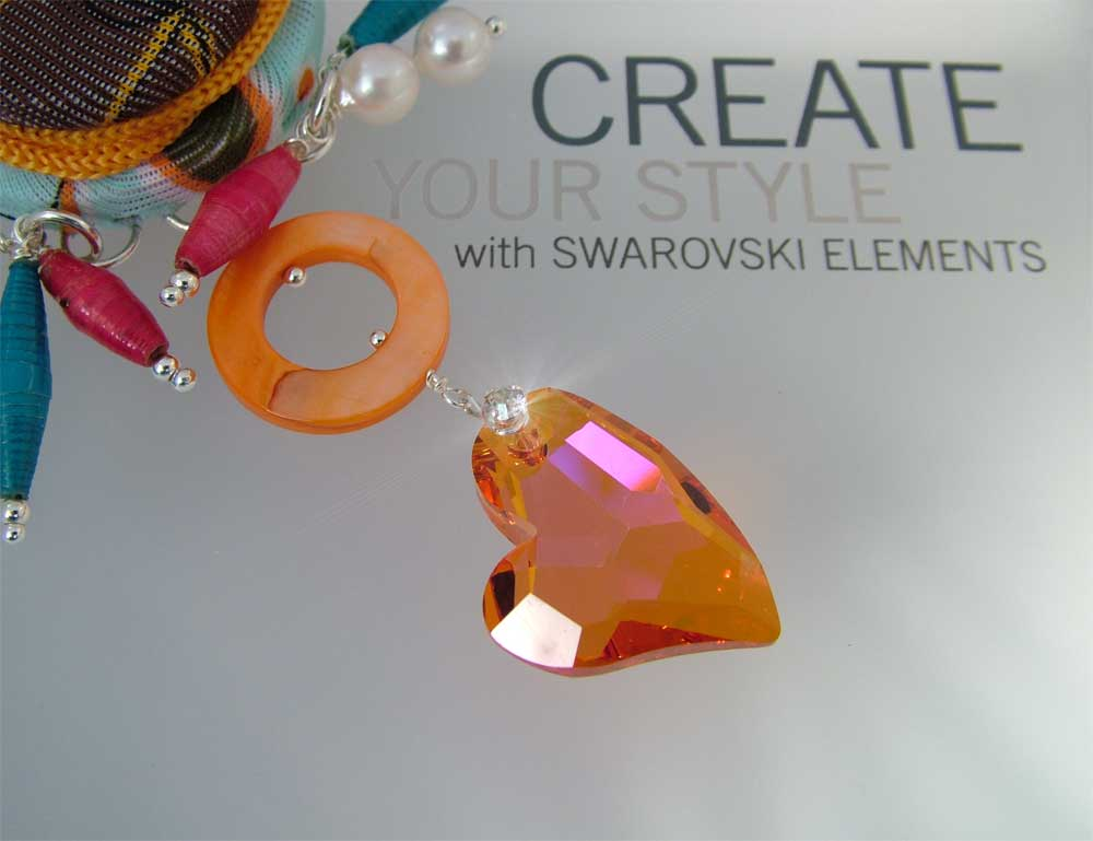 Color Jewelry with Swarovski Devoted2u Heart Pendant