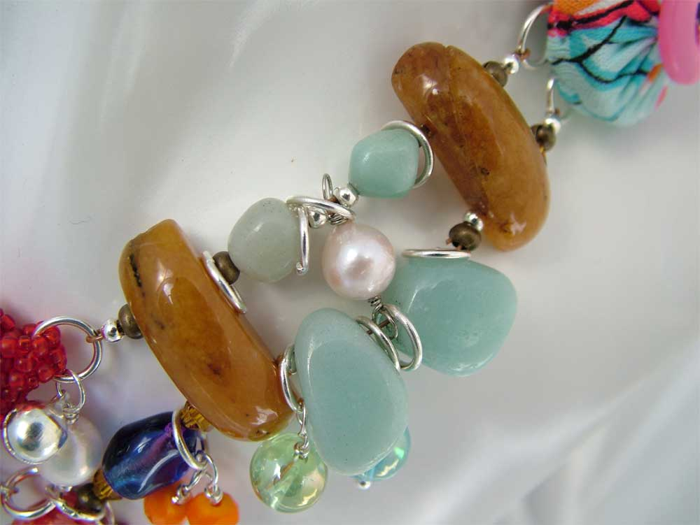 Mix Media with Wirework, Gemstones, Pearls