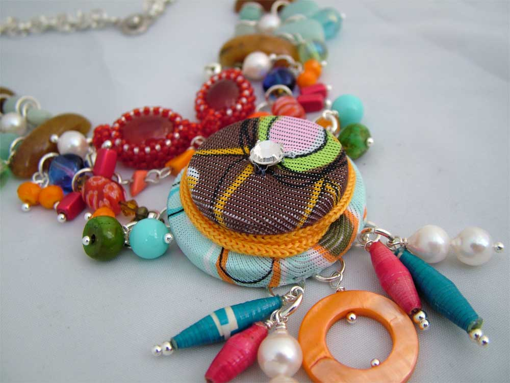 Handmade focal of color jewelry