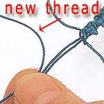 starting loop for loop & bead clasp