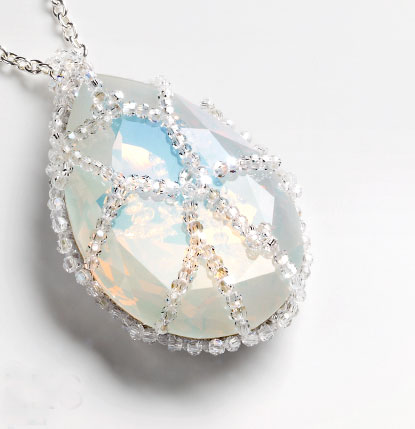free necklace tutorial - Little Miracles Moonlight Necklace