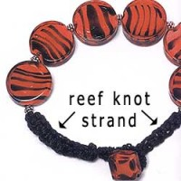 Beaded Jewelry with Square Knot strand