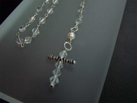 pearl and crystal rosary