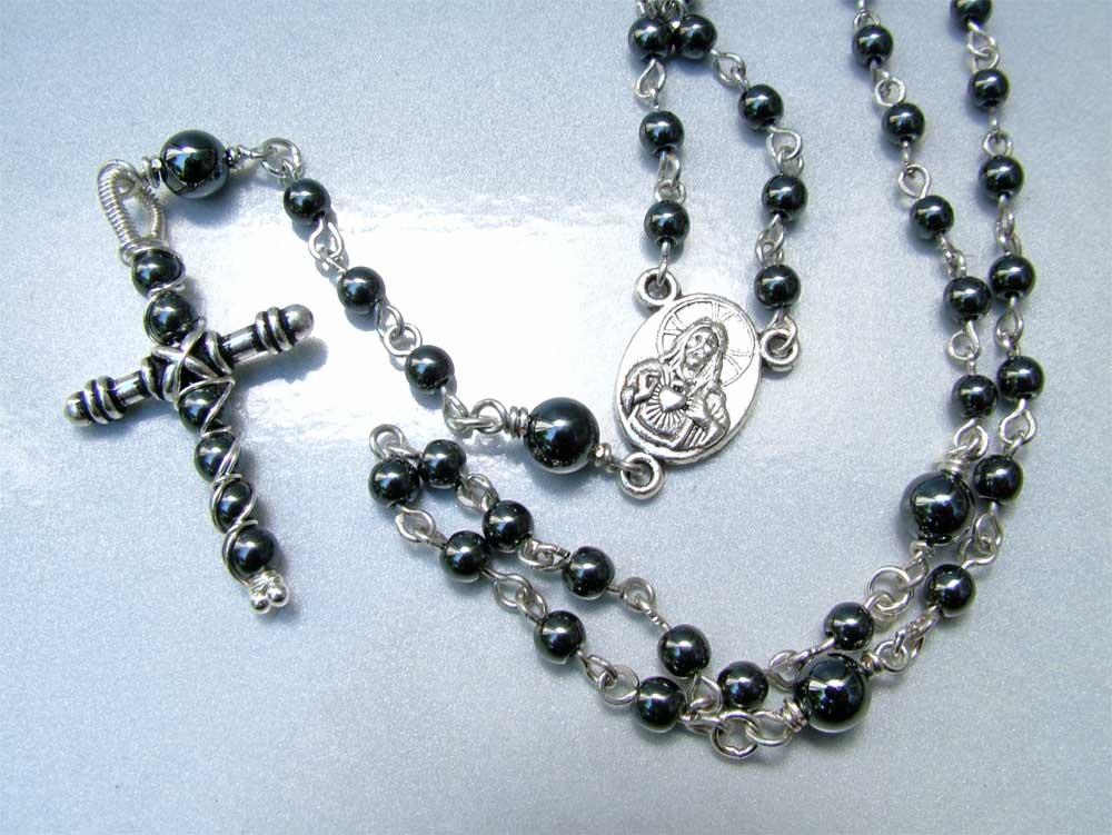 Handmade hematite rosary