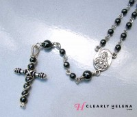 Rosary Center of Hematite Rosary