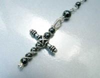 Handmade Hematite Cross