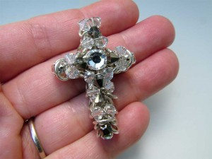 Wire Wrapped and ChainMail Cross