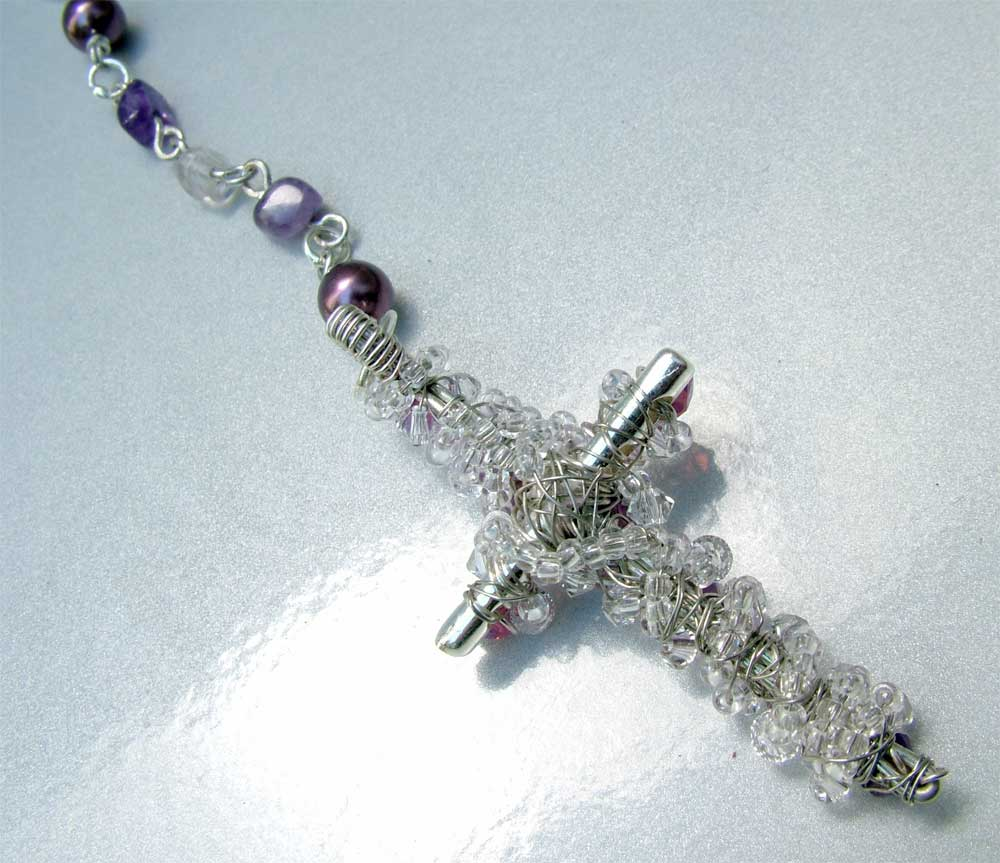 Wire Wrap Cross - back