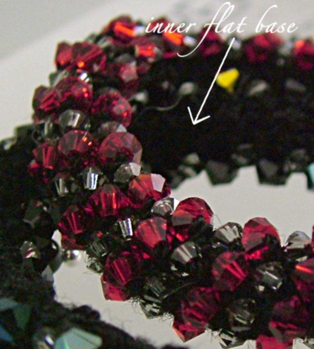 Beaded Crochet Bracelet - sew and finish