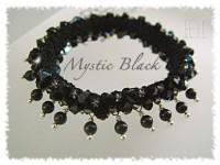 Swarovski Mystic Black beaded crochet bangle