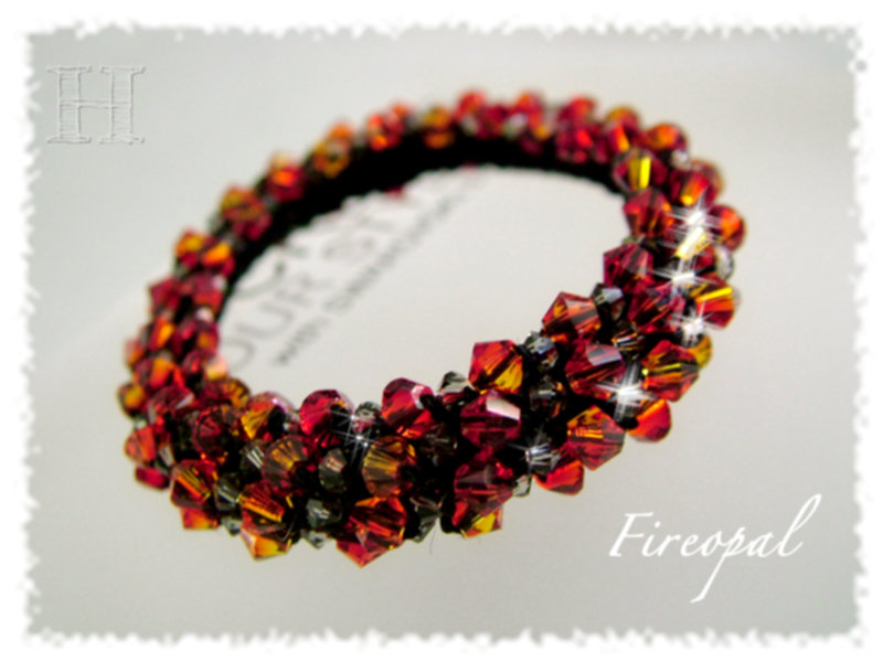 Beaded Crochet Bracelets Comfy Sparkles With Swarovski Clearlyhelena