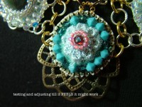 jewelry felting and mix media