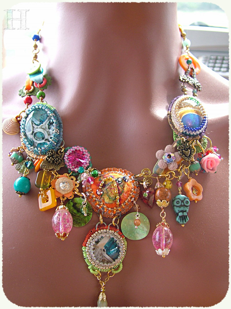 mix media necklace