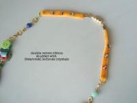 finishing on mix media necklace