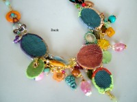 back view of mix media necklace