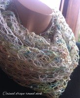 crochet-shawl with solomon's knot