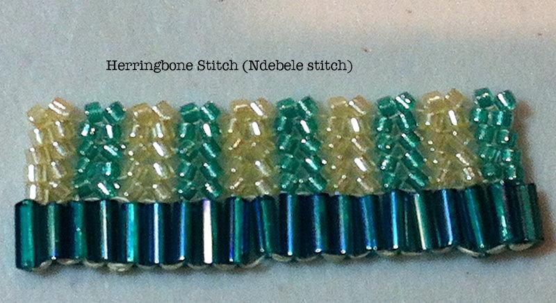 Beading: Flat Herringbone Stitch ・ClearlyHelena