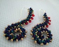 squiggle earrings-St-Petersburg-Stitch