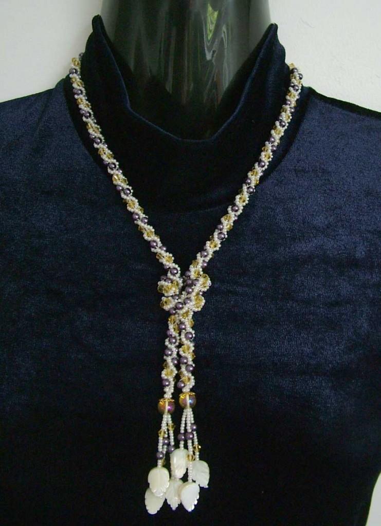 Beaded Crochect Y-Necklace (CC0024)