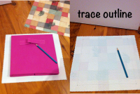 collage drawers: trace outline