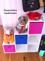 collage drawers - before