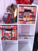 collage drawers - in progress