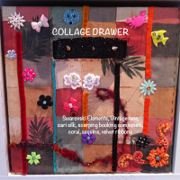 collage drawers - close up