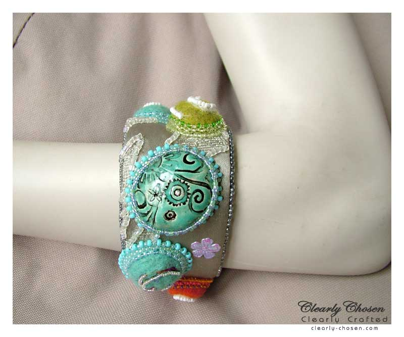 felted cabs bangle