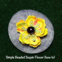 beaded sequin flower how to