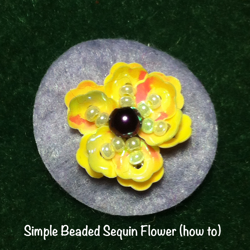 beaded sequin-flower how to