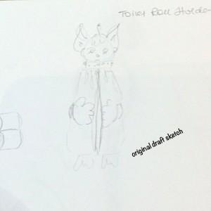 sketch handmade toilet roll holder-009