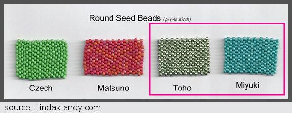 Miyuki vs Toho round seed beads
