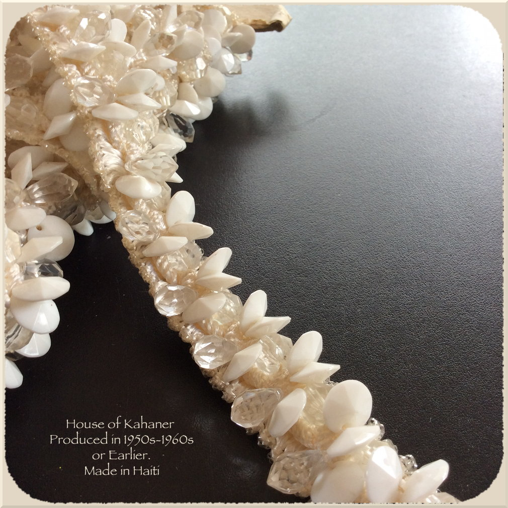 Kahaner Trim - White Cut Rivolis and Facet Crystal Drops