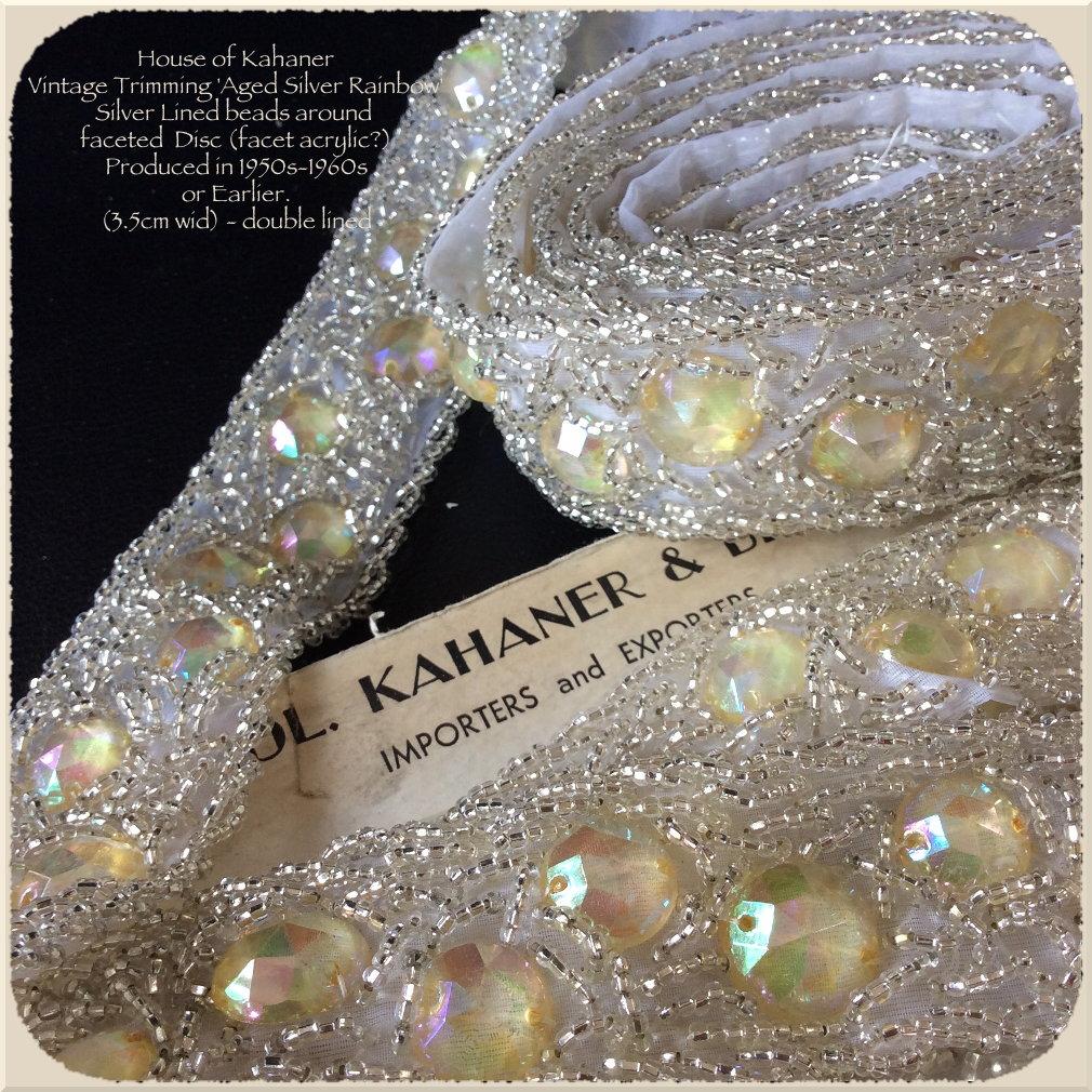 House of Kahaner vintage trims - aged silver rainbow