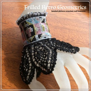 beaded picture crochet cuff CH0367-000