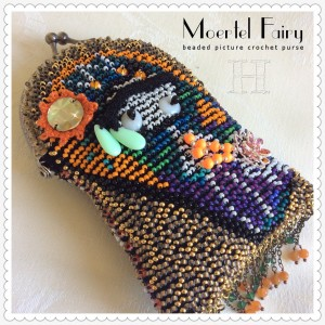 Moertel Fairy purse; beaded picture crochet