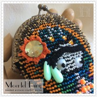 close up Moertel Fairy beaded picture crochet