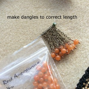 gemstone dangles for picture crochet purse
