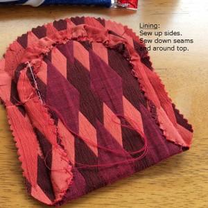 lining for the Moertel Fairy crochet purse