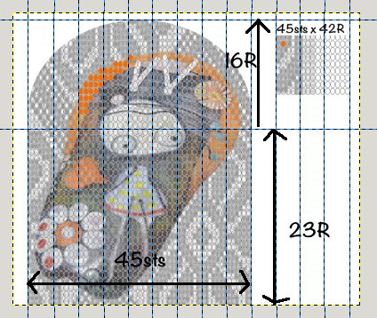 Graph of Moertel Inspired crochet purse