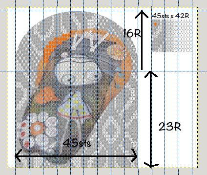 Graph of Moertel Inspired crochet purse