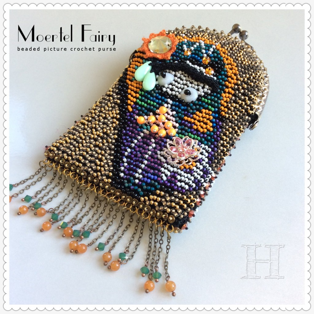 beaded picture crochet purse - Moertel Fairy