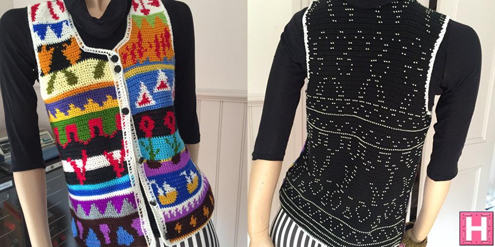 Beaded Crochet Vest (CH0373)