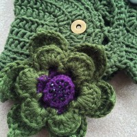 flowers for crochet neck warmer