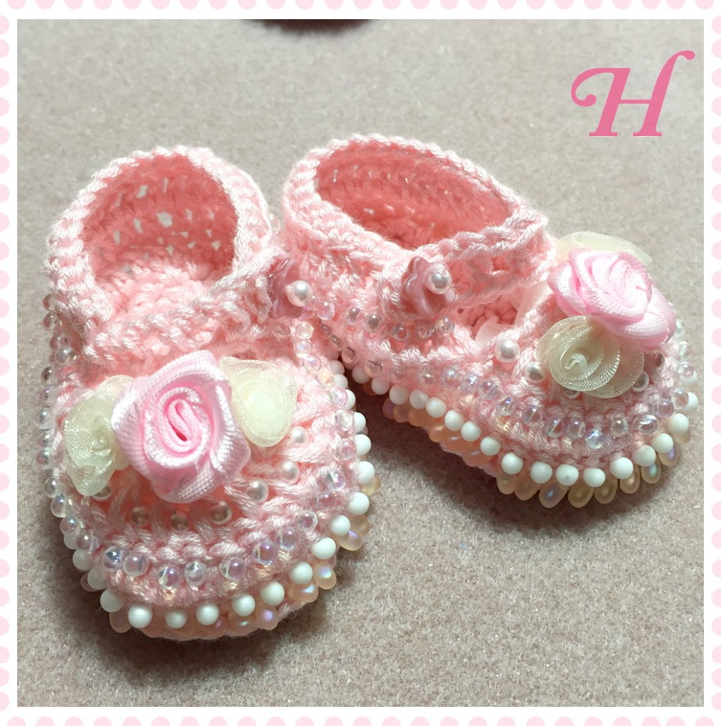 Crochet Baby Shoes How To ・ClearlyHelena