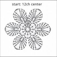 crochet flower shawl-CH0383-000
