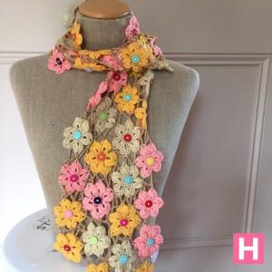 crochet flower shawl-CH0383-001