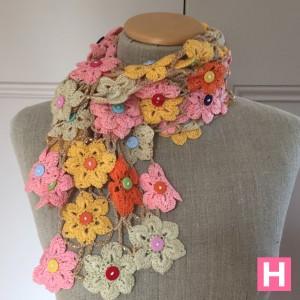 crochet flower shawl-CH0383-002