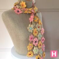 crochet flower shawl-CH0383-003